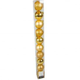 Műanyag gömb világos arany 6cm 10db-os