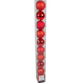 Műanyag gömb piros 6cm 10db-os
