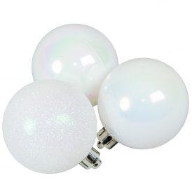 Műanyag gömb rózsaszínes fehér  6cm 10db-os