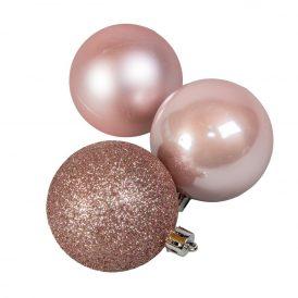 Műanyag gömb rózsaszín 6cm 10db-os