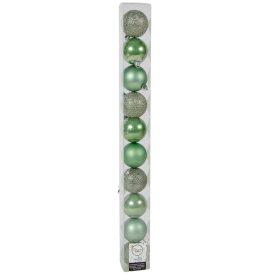 Műanyag gömb zsálya zöld 6cm 10db-os