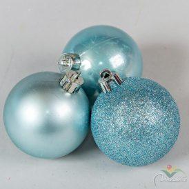 Műanyag gömb sarkvidéki kék 6cm 10db-os
