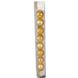 Műanyag gömb mustár 6cm 10db-os