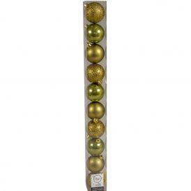Műanyag gömb moha zöld 6cm 10db-os