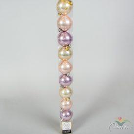 Műanyag gömb lila,pink, gyöngy mix 6cm 10db-os