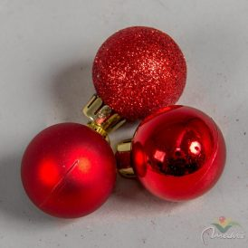 Műanyag gömb piros 3cm 14db-os