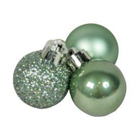 Műanyag gömb zsálya zöld 3cm 14db-os