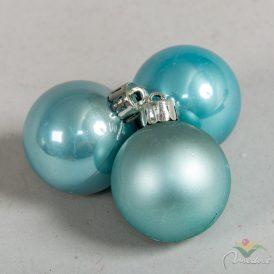 Műanyag gömb sarkköri kék 4cm 16db-os