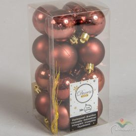 Műanyag gömb rózsafa 4cm 16db-os