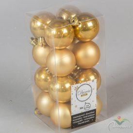 Műanyag gömb mustár 4cm 16db-os