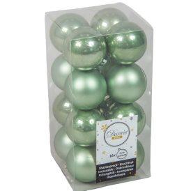 Műanyag gömb zsálya zöld 4cm 16db-os