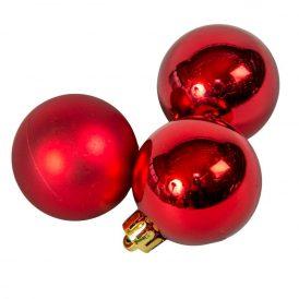 Műanyag gömb piros 4cm 16db-os