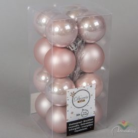Műanyag gömb rózsaszín 4cm 16db-os
