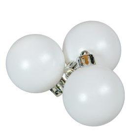 Műanyag gömb téli fehér 4cm 16db-os