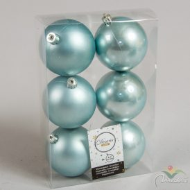 Műanyag gömbsarkköri kék 8cm 6db