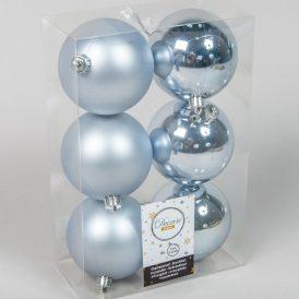 Műanyag gömb téli ég 8cm 6db-os