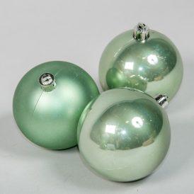 Műanyag gömb zsálya zöld 8cm 6db-os