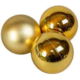 Műanyag gömb világos arany 8cm 6db-os