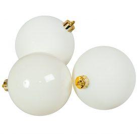 Műanyag gömb gyapjú fehér 8cm 6db-os