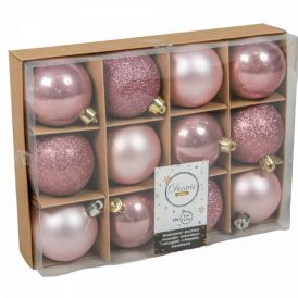 Műnyag gömb rózsaszín 6cm 12db-os