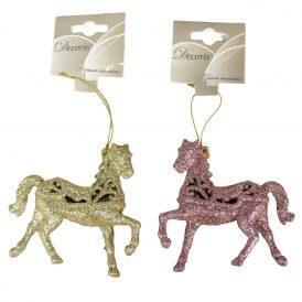 Glitteres akasztós lovacska glitteres 10cm