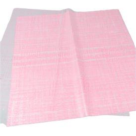 Csomagoló fólia újság mintás rózsaszín 58x58cm 20db-os
