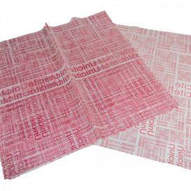 Csomagoló fólia újság mintás vörös 58x58cm 20db-os