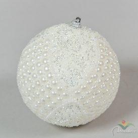 Gyöngyös gömb krém 120mm