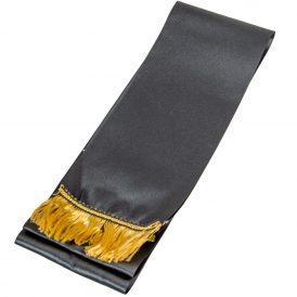 Koszorú szalag 10x220cm fekete-arany 2db/csom (db ár)
