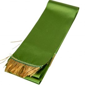 Koszorú szalag 10x220cm keki zöld-arany 2db/csom (db ár)