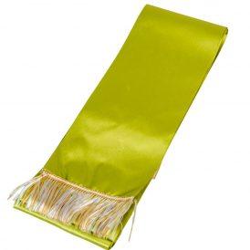 Koszorú szalag 10x220cm fűzöld-arany 2db/csom (db ár)