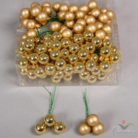 Üveggömb 20mm arany fényes/matt 144db/doboz