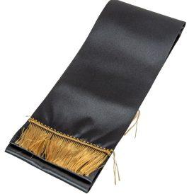 Koszorú szalag 12x220cm fekete-arany 2db/csom (db ár)