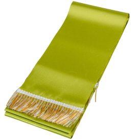 Koszorú szalag 12x220cm keki zöld-arany 2db/csom (db ár)