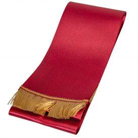 Koszorú szalag 12x220cm bordó-arany 2db/csom (db ár)
