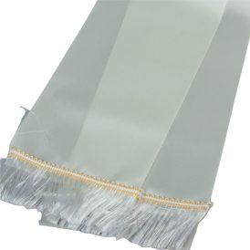 Koszorú szalag 12x220cm ekrü-fehér 2db/csom (db ár)