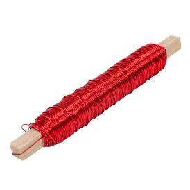 Dekor drót 0,5mmx50m 100g  piros