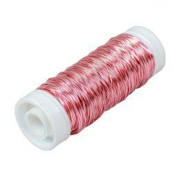Dekor drót 0,3mm*50m 30g metál rózsaszín