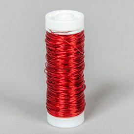 Dekor drót  piros 30g 0,3mmx50m