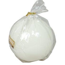 Lakkozott gömb gyertya 80mm fehér
