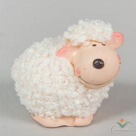 Kerámia bárány bundás M7cm
