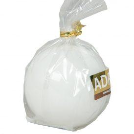 Lakkozott gömb gyertya 56mm fehér