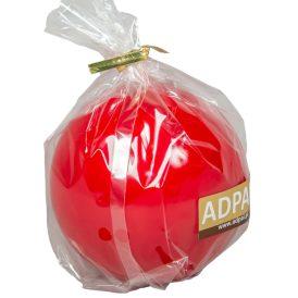 Lakkozott gömb gyertya 80mm piros