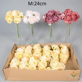 Polifoam rózsa csokor 6v. 12db/karton Egész/fél kartonra rendelhető!