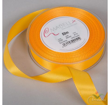 Textil szalag Economy sárga 25mmx50m