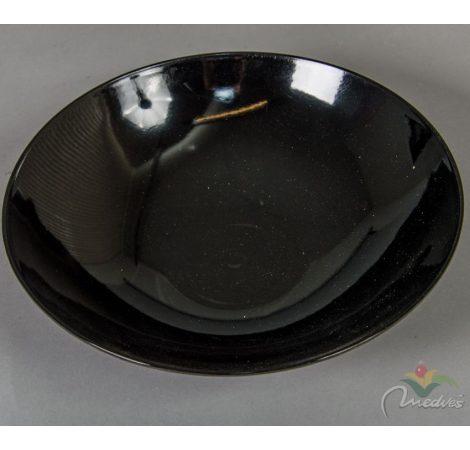 Műanyag tál íves kerek fekete D28cm