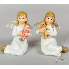 Babával ülő angyal 10cm