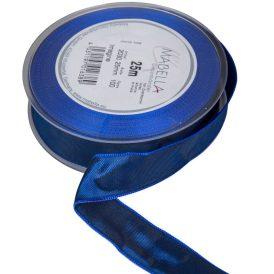 Textil szalag hagyományos drótos kék 25mmx25m