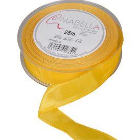 Textil szalag hagyományos drótos sárga 25mmx25m