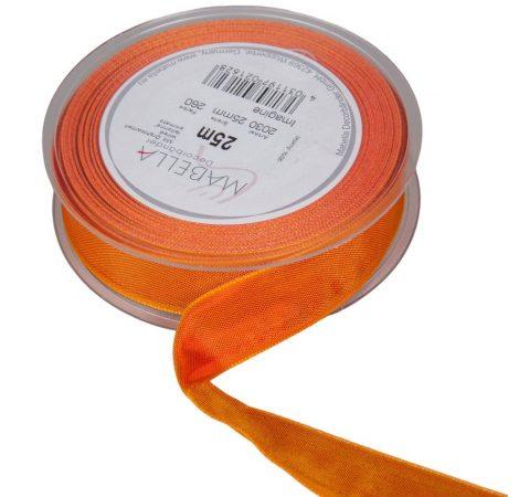 Textil szalag hagyományos drótos narancs 25mmx25m